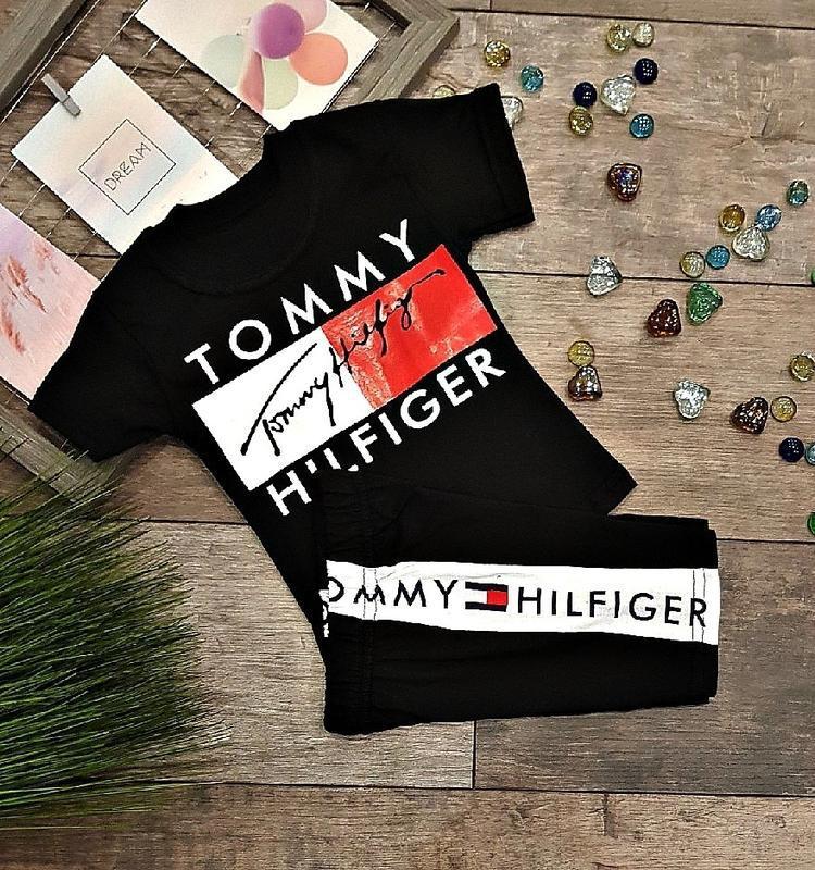 Костюм для мальчика шорты футболка черный