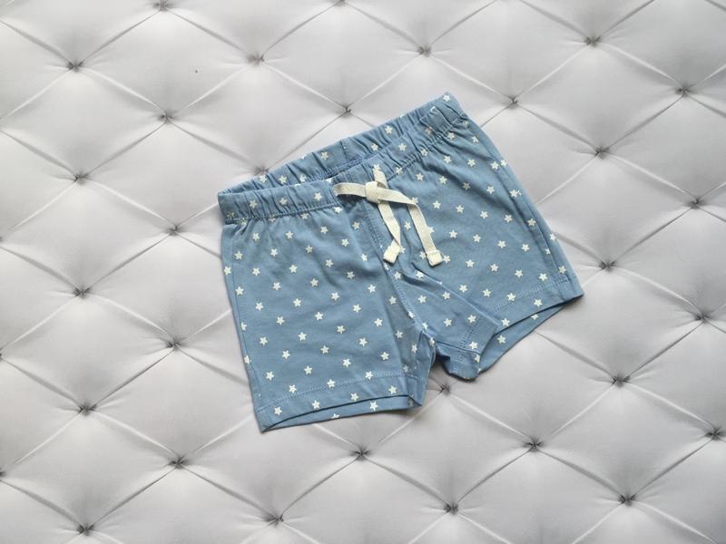 Новые шорты нм hm h&m, голубые шортики со звёздами