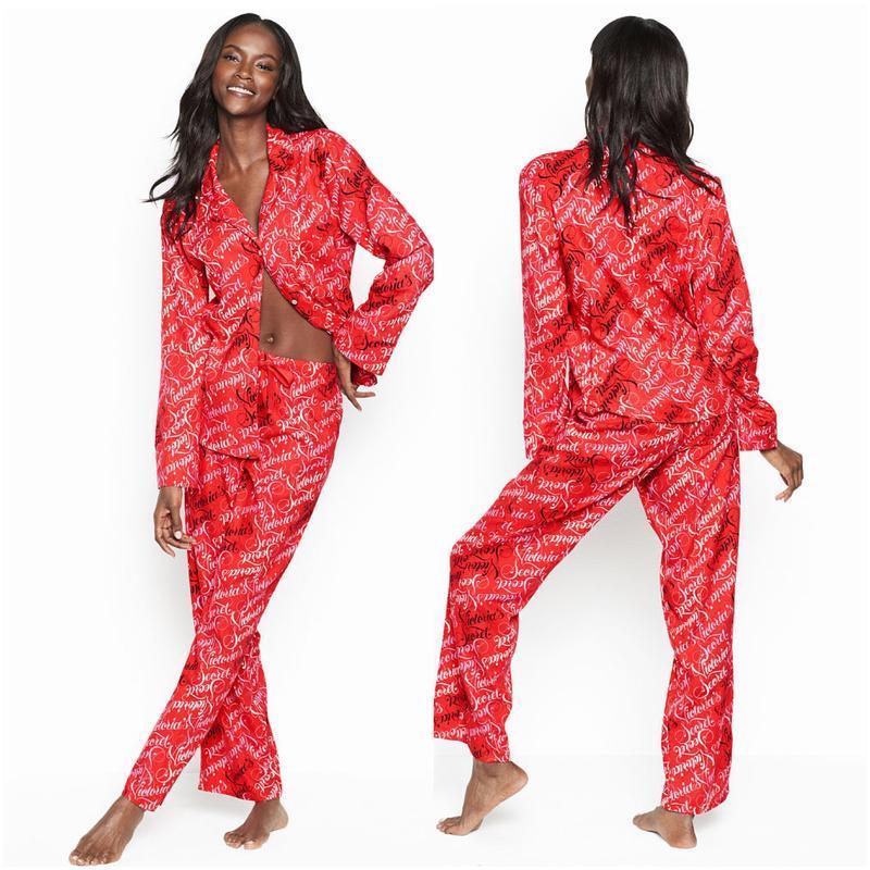 Красная пижама victoria's secret оригинал,пижаму со штанами ви...