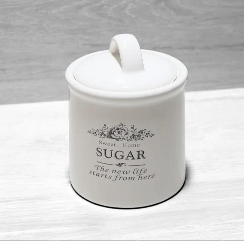 Банка керамическая для хранения сахар 600мл sweet home
