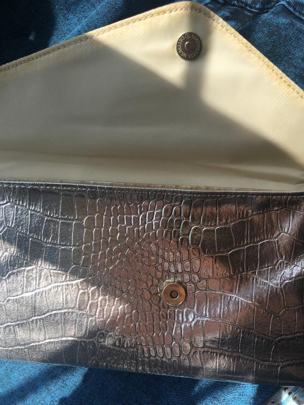 Серебристый клатч #розвантажуюсь - Фото 5