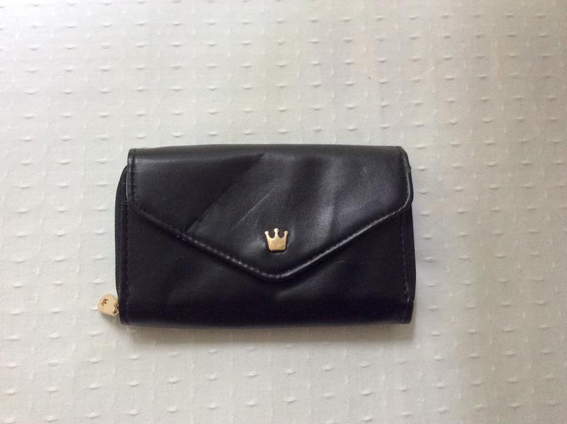 """Черный женский кошелек """"crown smart wallet"""""""