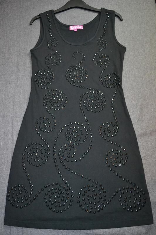 Платье сарафан расшитое камнями италия  р. L