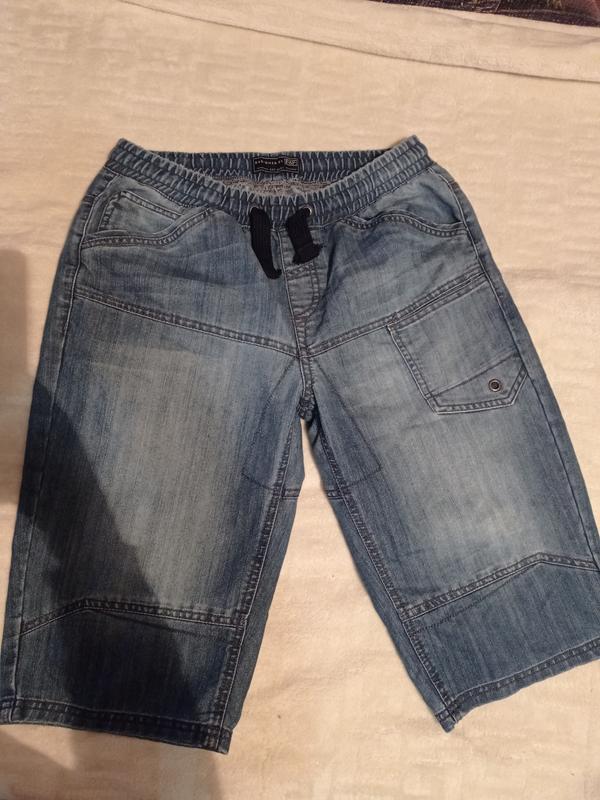 Джинсовые шорты мужские на резинке f&f джинсові шорти
