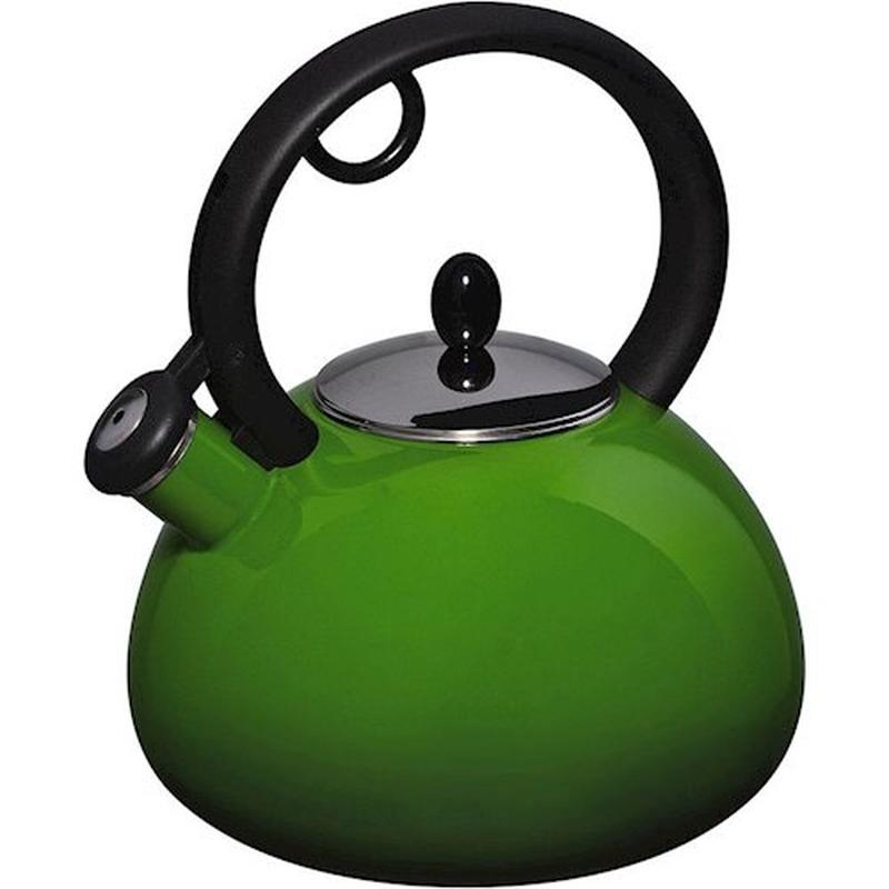 Чайник эмалированный со свистком Granchio Bollitore Verde 2,5 л.