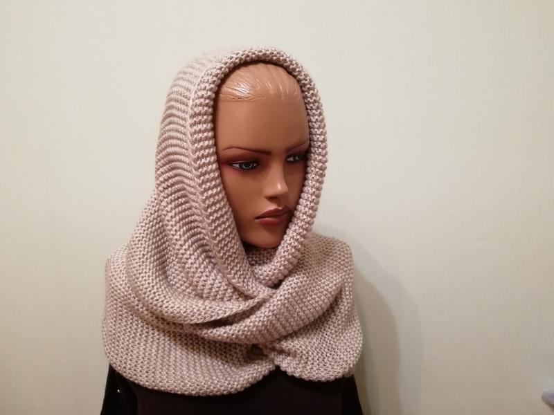Стильный шарф снуд хомут