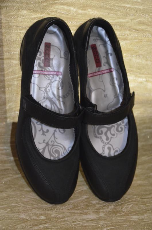 Кожаные туфли ecco оригинал 39 р.