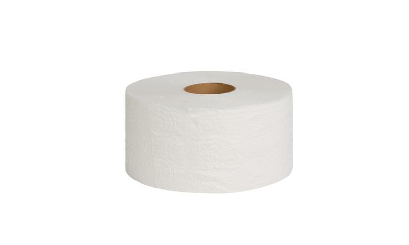 Туалетная бумага Джамбо двухслойная белая с перфорацией,100 в рул