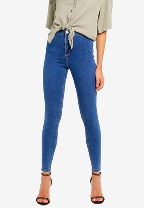 Базовые джинсы скинни с высокой посадкой талией topy joni