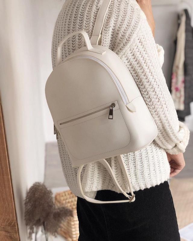 13 цветов! белый городской рюкзак