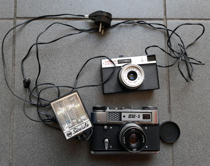 Фотоаппараты и фотовспышка CCCP