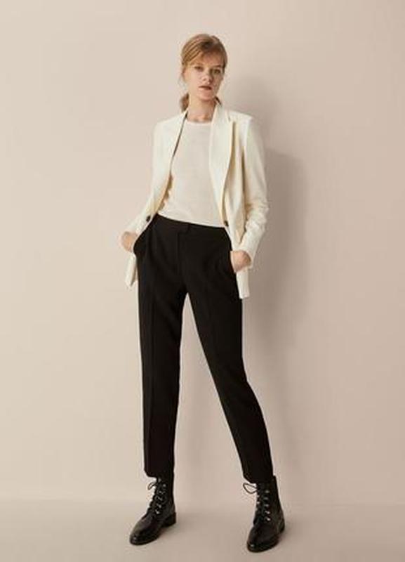 Шерстяные брюки в полоску massimo dutti