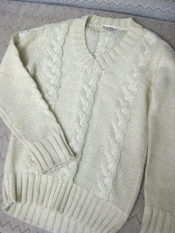 Свитер джемпер кофта carina акрил белый молочный бежевый вязан...