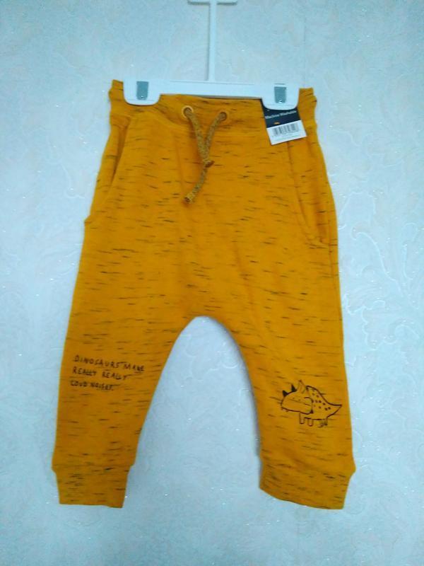 Тренд! горчичные жёлтые штаны  1-1,5года бренда george