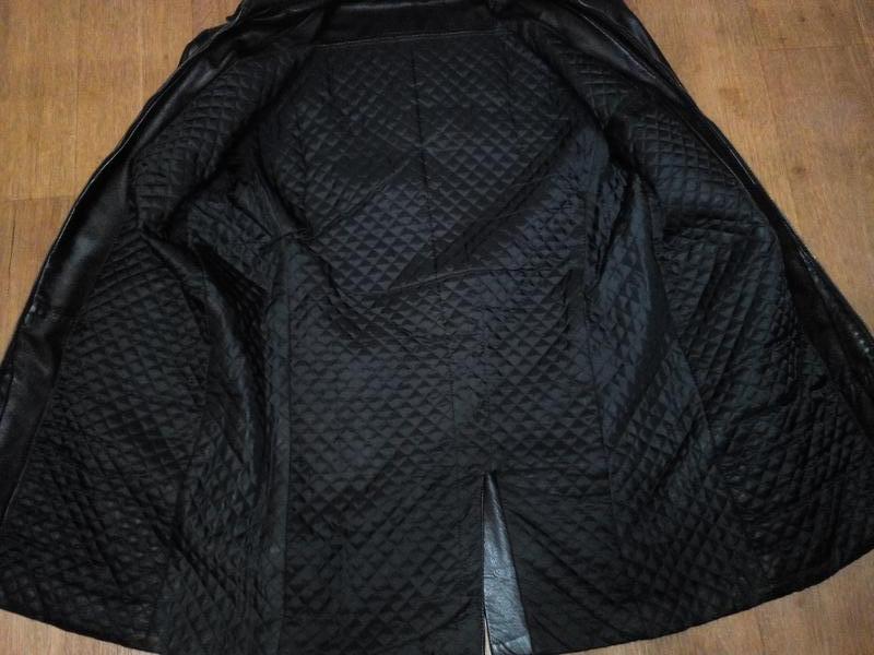 Куртка кожаная утепленная черная - Фото 2