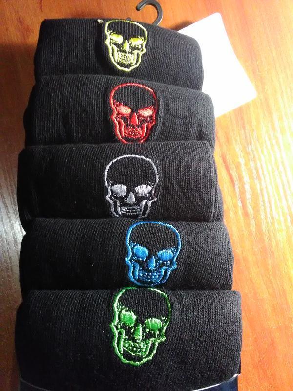 Носки набор 5 пар череп пяточка носочек