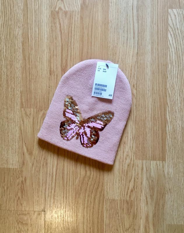 Стильная и красивая шапка, шапочка перевертыш для девочки h&m,...
