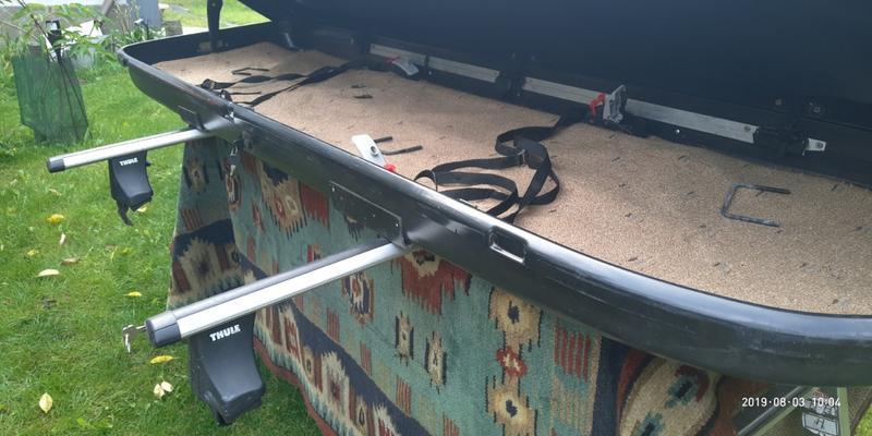 Багажник (Бокс) на крышу с рейлингами