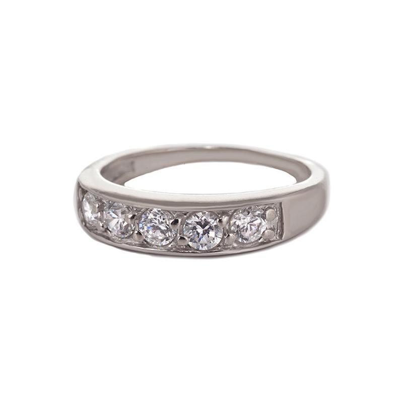 Серебряное кольцо «дорожка»