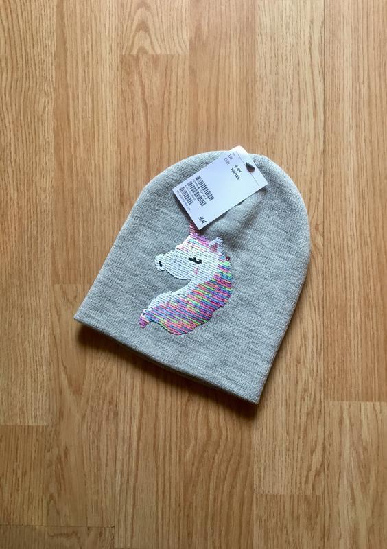 Стильная и красивая шапка, шапочка перевертыш  для девочки h&m...