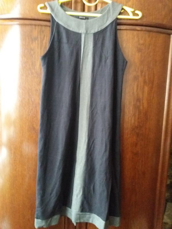 Платье-сарафан- плотное 12р -           вискоза