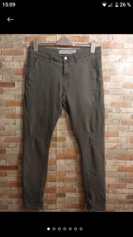 Крутые стрейчевые джинсы скинни 14/48-50 размера