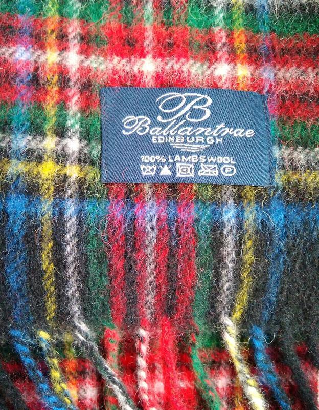 Шотландский теплый шарф с шерсти молодого ягненка знаменитого ...