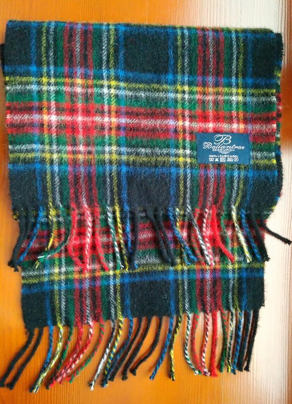 Теплый шотландский шарф шерсть молодого ягненка бренда ballant...