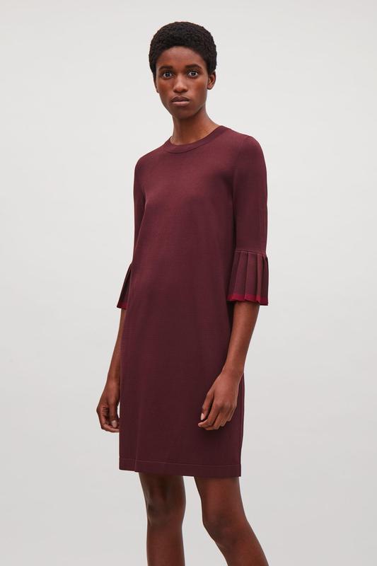 Платье с плиссированными рукавами cos
