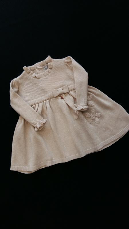 Нарядное вязаное платье mayoral (испания) на 3-6 месяцев (разм...
