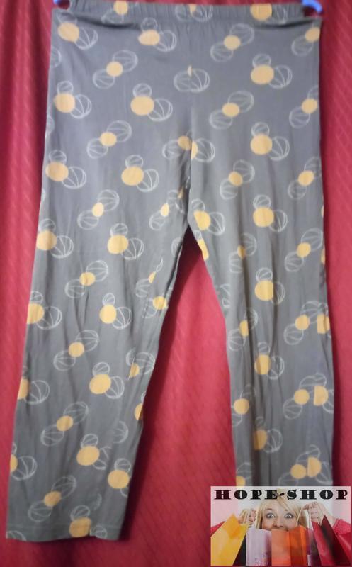 Домашние трикотажные принтованные ,серые  пижамные брюки 10