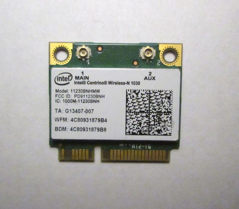 Wi-Fi Intel 11230BNHMW модуль Half mini PCI-E 300 Мбит/с +BT