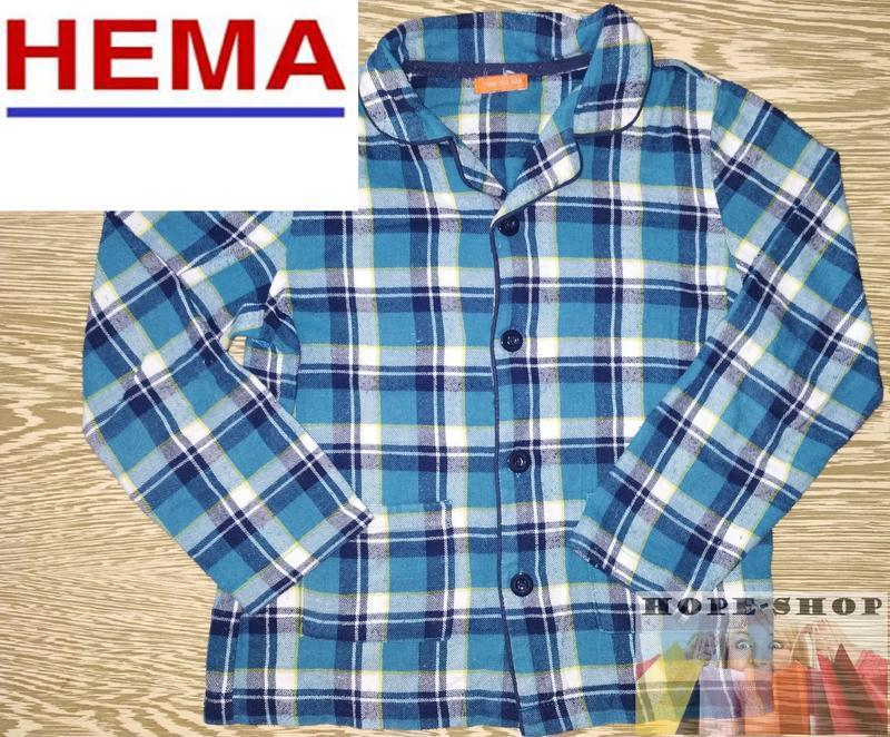 🌙домашняя байковая рубашка,рубашка для сна клетку 122/128