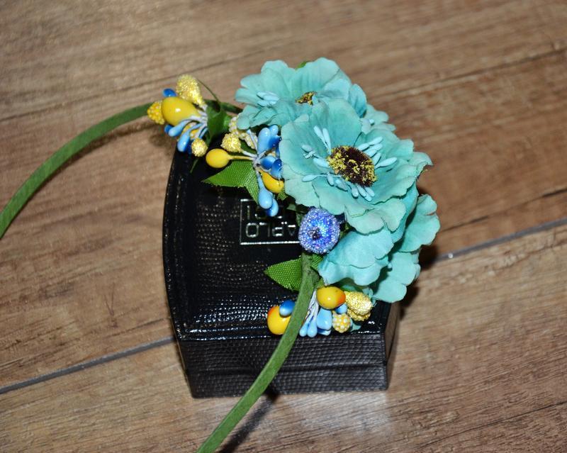Ободок, обруч цветы новый