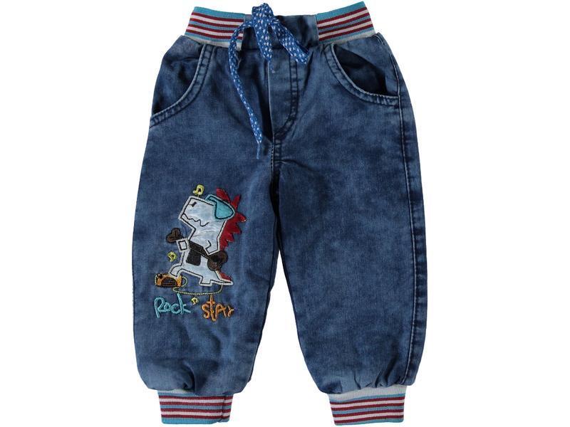 Зимние джинсы для мальчика на резинке