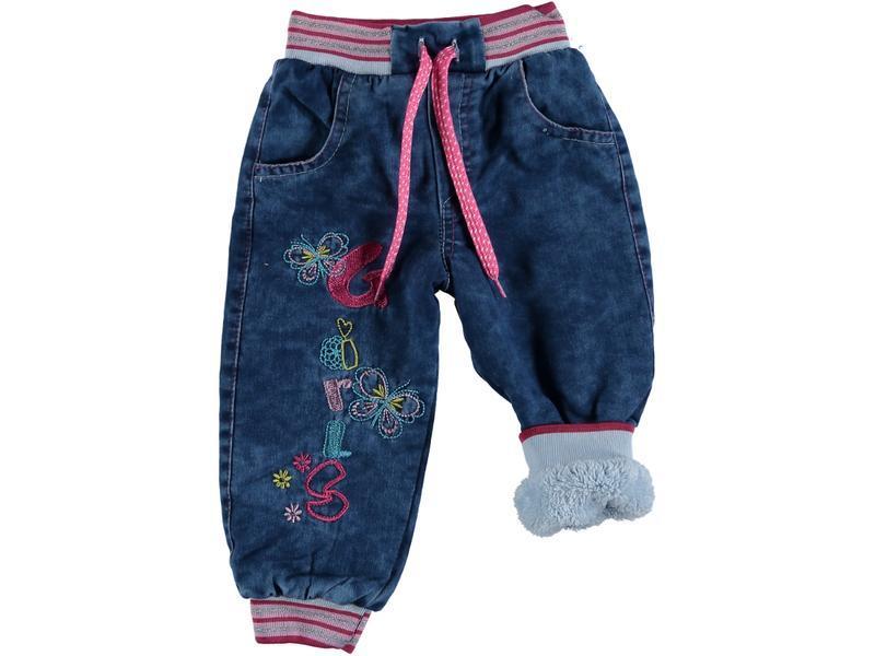 Зимние джинсы для девочки
