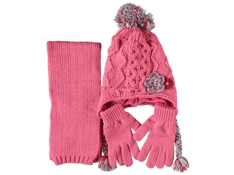 Детский набор для девочки: шарф - шапочка - перчатки