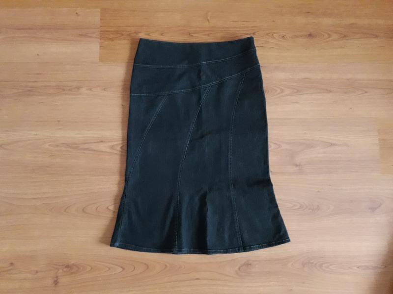 Юбка годе, джинсовая юбка миди next