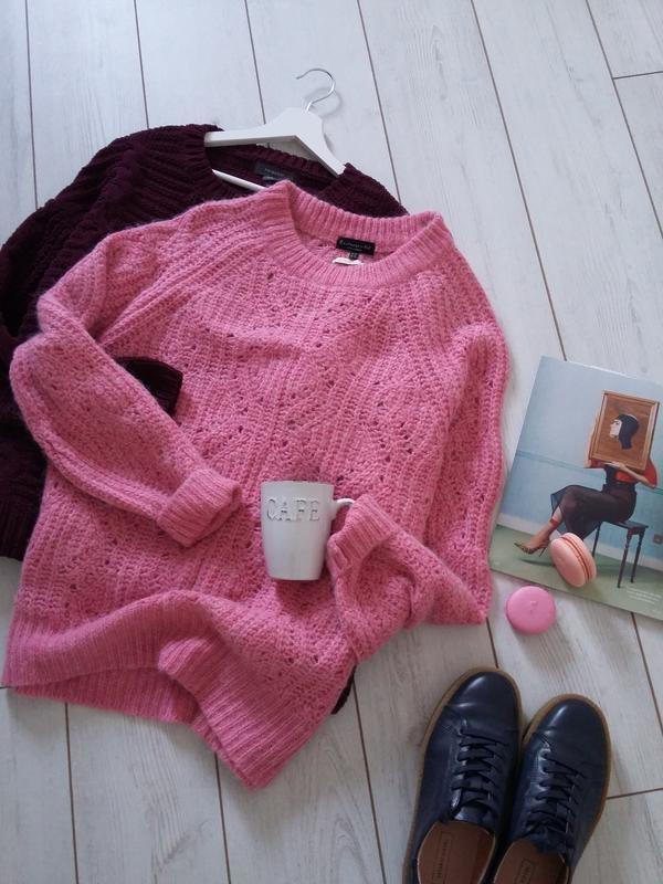 Объемной вязки свитер шерсть и альпака в составе f&f