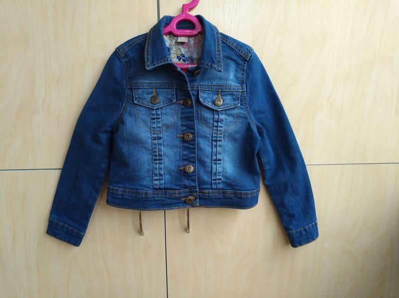 Джинсовый пиджак tu на 5-6 лет