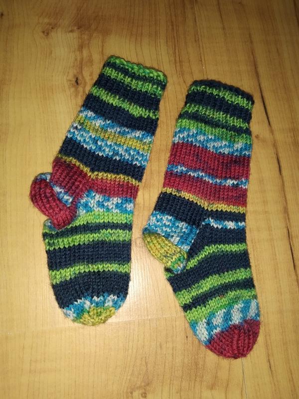 Теплые вязаные носки