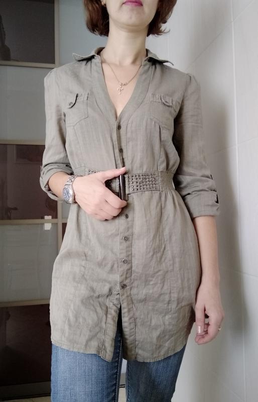 Классная длинная рубашка с-м