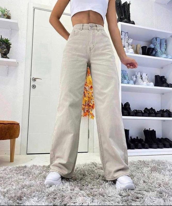 Классные бежевые джинсы ???? палаццо