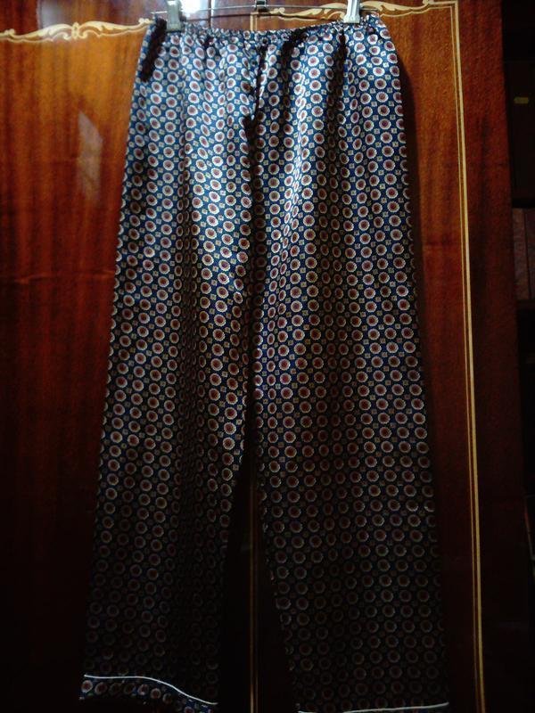 Штани піжамні атласні чоловічі