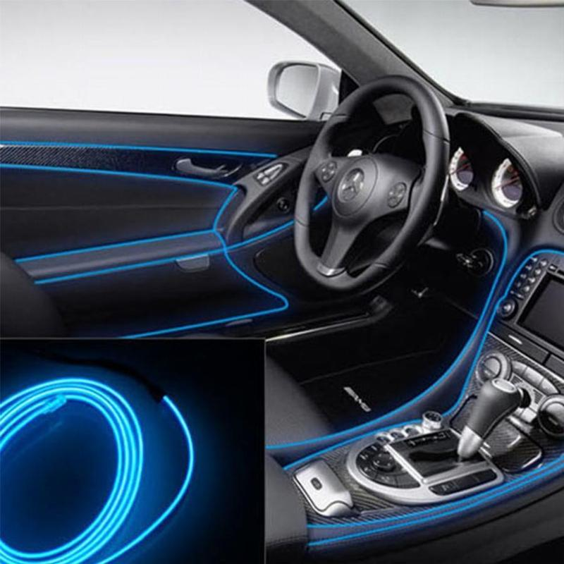 Гибкий светодиодный неон ltl для автомобиля 3 метра dc 12v blue - Фото 3
