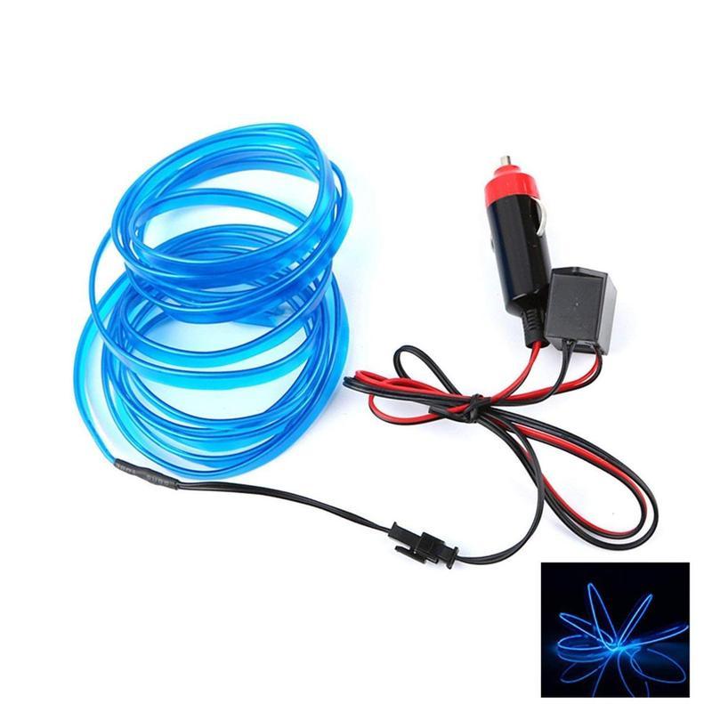 Гибкий светодиодный неон ltl для автомобиля 3 метра dc 12v blue - Фото 2