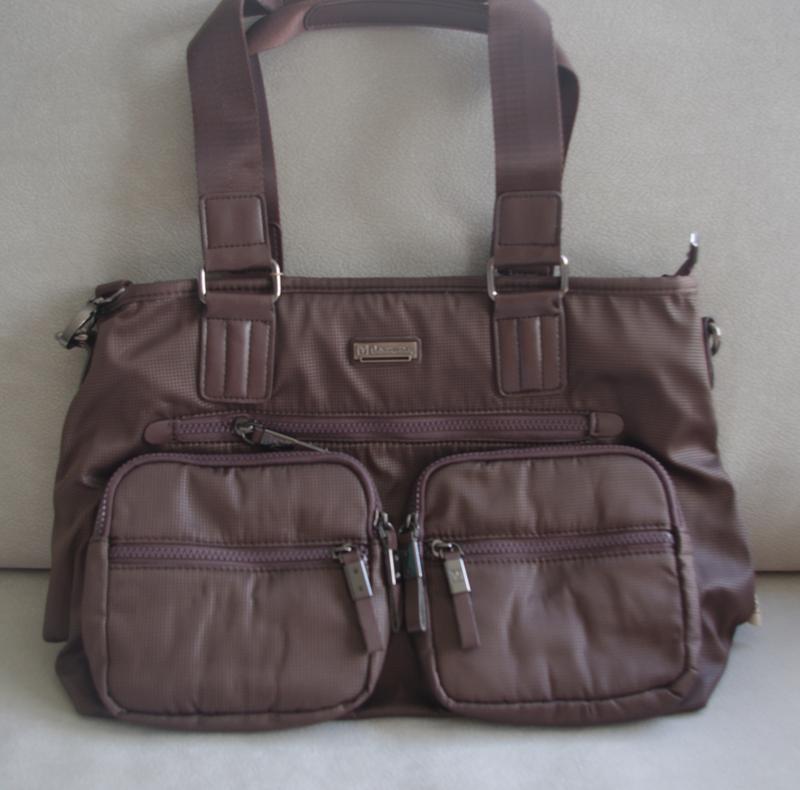 Мужская вместительная сумка коричневая на каждый день 31096-3