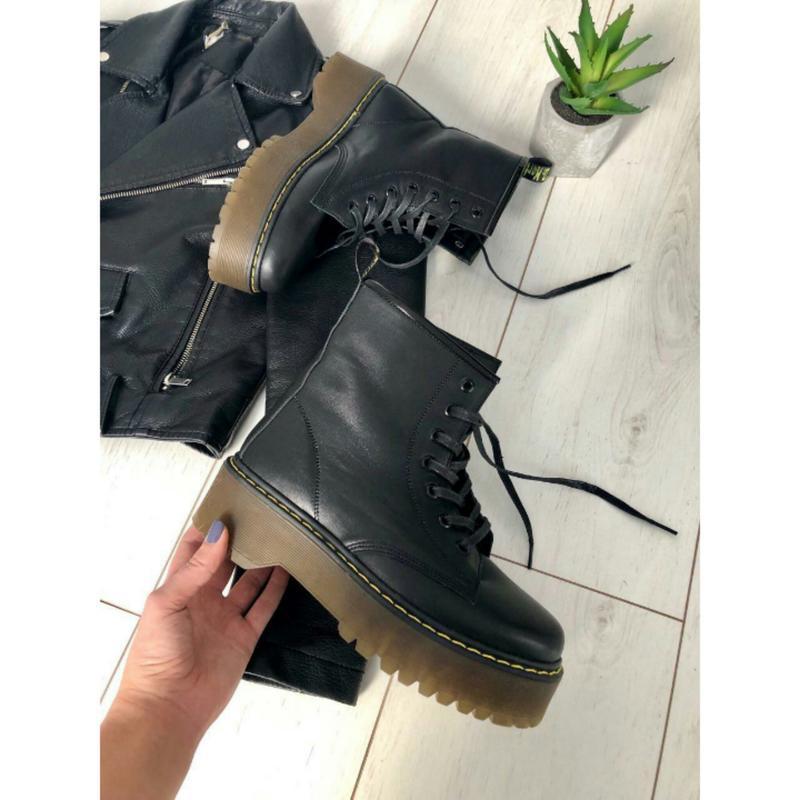 Исключительно крутые ботинки на платформе кожа зима украина
