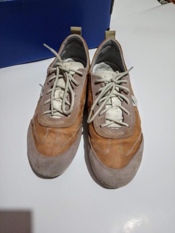 Кроссовки,кеды geox  кожа натуральная,замша.стелька 25,5