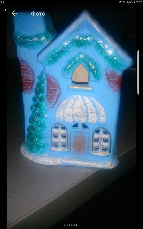 Подсвечник к новому году домик рождественский новогодний аромо...